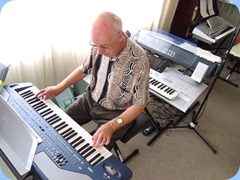 Our Coffe Day host, Peter Brophy playing his Korg Pa800