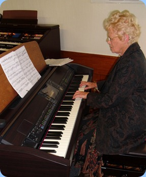 Ngaire McRae played some lovely arrangements for us