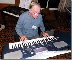 Len Osbourne did the honours for the arrival music and very nicely too - thanks Len. Len was playing his Korg Pa500 keyboard.