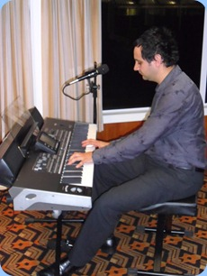 Kane Steves, from Music Planet Taharoto Road,  joined John Bercich for a quick overview of the latest Korg Pa3X arranger keyboards. Shown here playing the 76 note semi-weighted keyboard