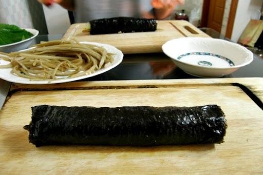 Life in Jeju 36 Kimbub หัดทำข้าวห่อสาหร่ายกับเพื่อนเกาหลี