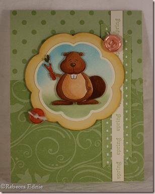 green beaver card
