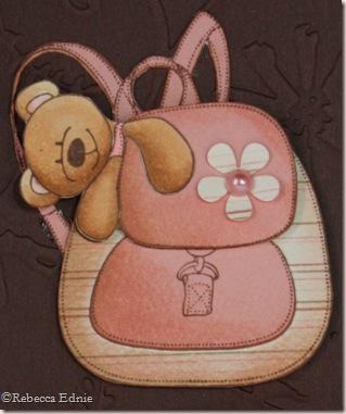kate backpack bear closeup