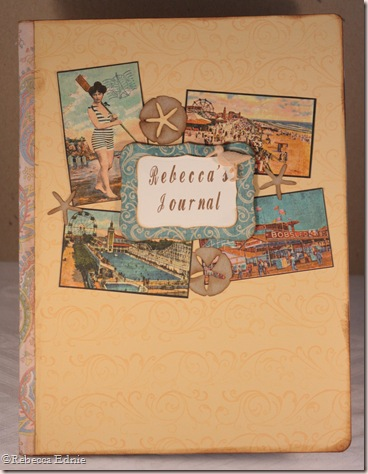 seaside theme a day journal cover