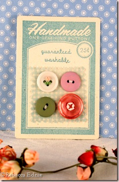 button card floss flower