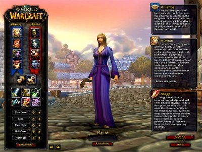 female world of warcraft characters. WOW Character Creation