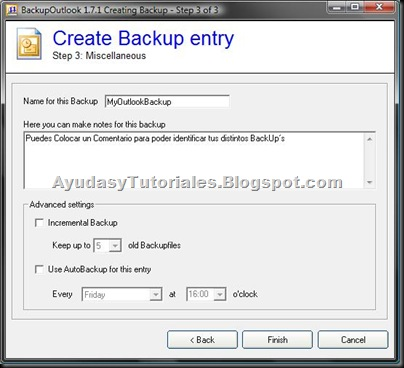 BackupOutlook - Create Backup Entry 3 - AyudasyTutoriales