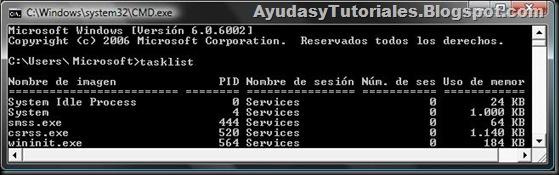 DOS - TaskList - AyudasyTutoriales