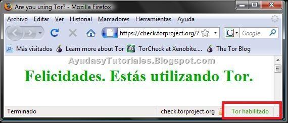 Firefox - Estas Usando Tor - AyudasyTutoriales