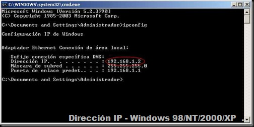 IPConfig - Win XP