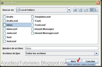 Mbox2eml - Cargar Carpetas - AyudasyTutoriales