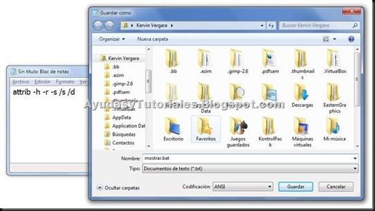 Guardar archivo en BAT - AyudasyTutoriales