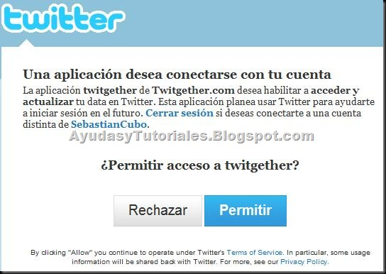 Permitir Twitter - AyudasyTutoriales