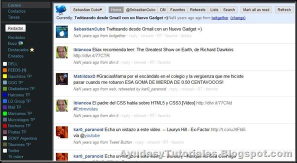 Twitter en Gmail 2 - AyudasyTutoriales
