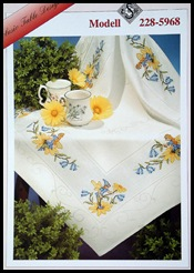 Tablecloth with flowers and fairys-740711