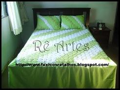 colcha de fuxico branca e verde especial (3)