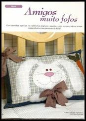 almofada coelho patch pascoa tecido