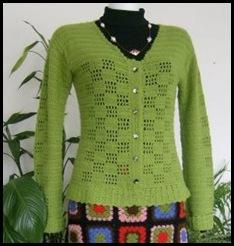 saia e casaco em crochet1