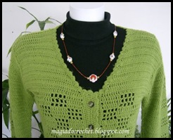 decote casaco crochet verde2