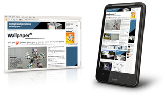 HTC Desire HD Web Browsing
