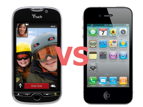 myTouch 4G vs iPhone 4