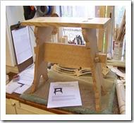 Medieval oak stool-72