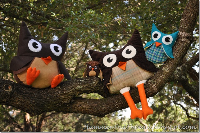 Owl Stuffies Tutorial