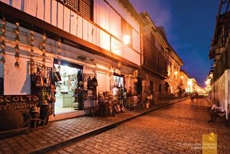 Calle Crisologo at Ilocos Sur's Vigan City