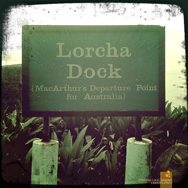 Corregidor's Lorcha Dock Signboard