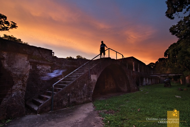 Twilight at Corregidor's Battery Grubbs