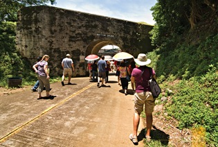 Midday Sun at the Entrance of Corregidor's Battery Grubbs