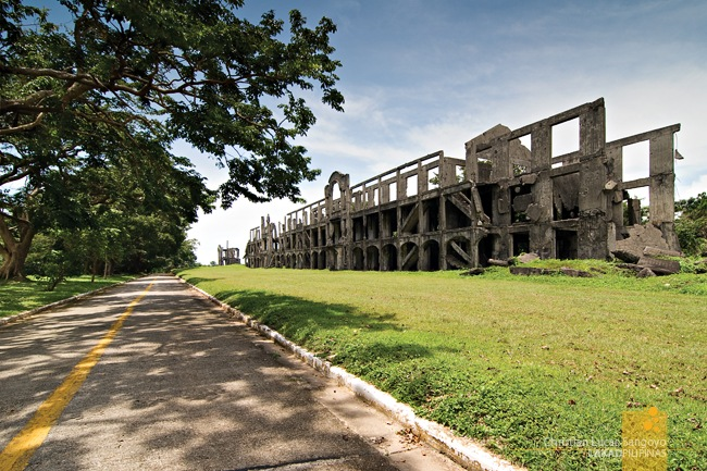 Corregidor's Mile Long Barracks Stretching into the Horizon