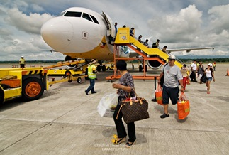Disembarking from the Plane at Iloilo Airport