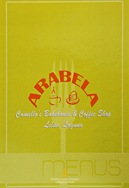 Cafe Arabela's Menu