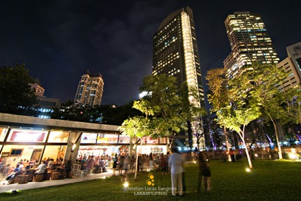 The Food Strip Along the Ayala Garden