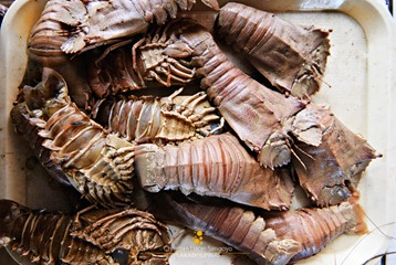 Slipper Lobster or Pitik at Coron Market
