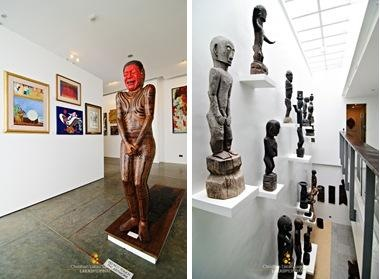 Sculptures Inside BenCab Museum