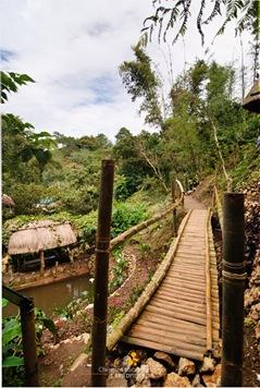 Hanging Bridge at Tam-Awan Village in Baguio