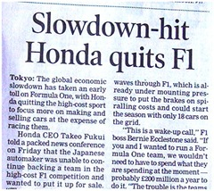 slowdown and honda
