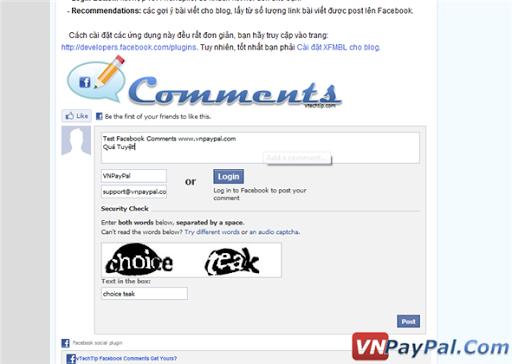 Thêm khung Facebook Comments vào Blogger Một Cách Đơn Giản