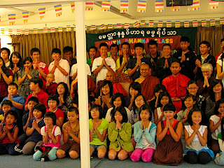 >Burmese Buddhism Class for Children at Metta Nanda close with award ceremony