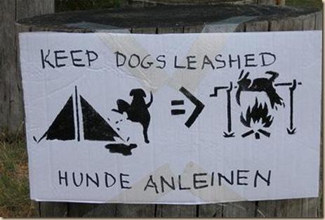 Amarre a su perro