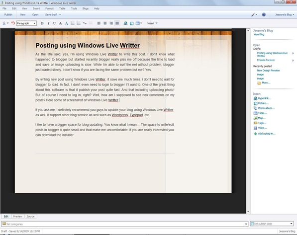 Windows Live Writter