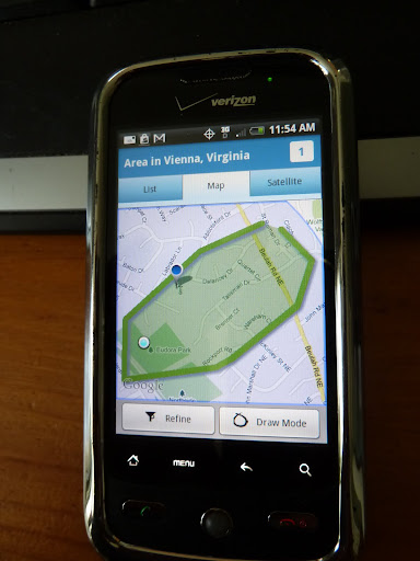 Smart phone real estate app vienna va