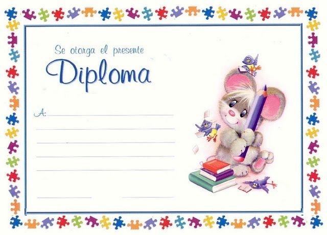 Diplomas escolares para imprimir | Colorear dibujos infantiles