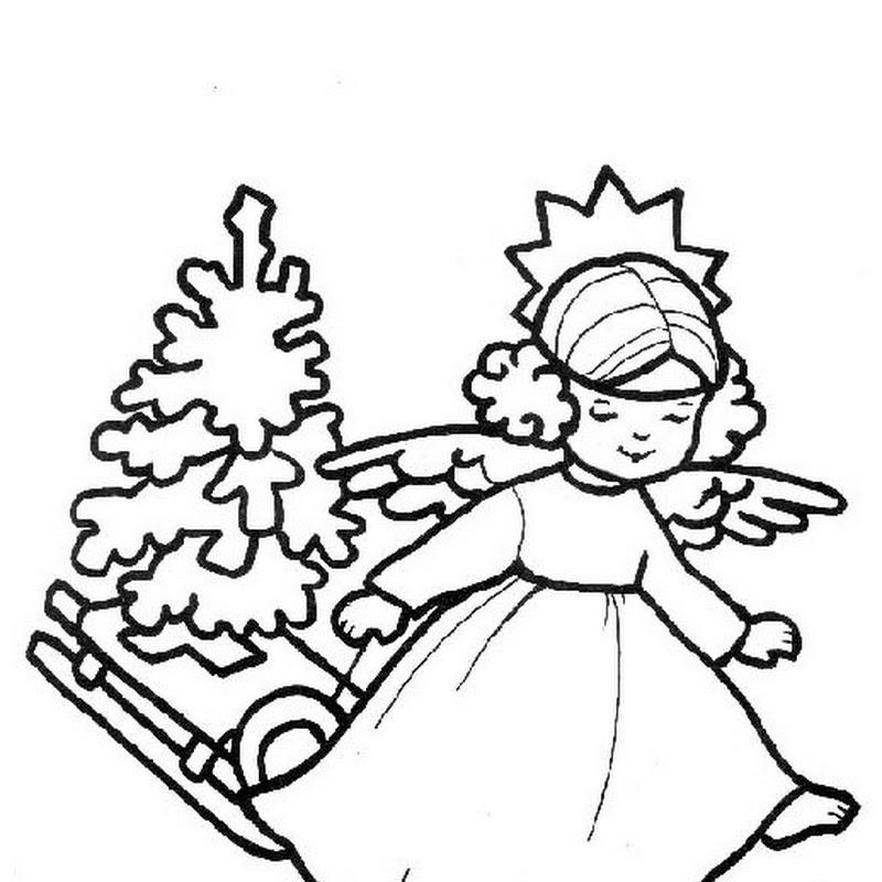 Dibujos para colorear de ángeles