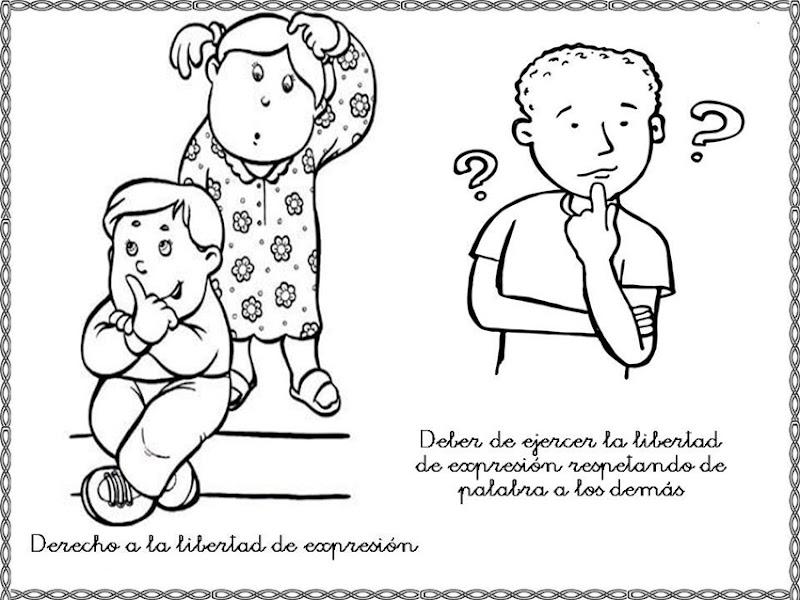 Dibujos para colorear derechos y deberes del niño | Colorear ...