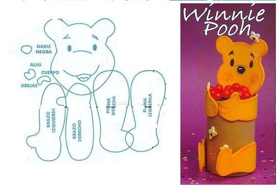 Dulcero Winnie the Pooh en foami | Blog de imágenes