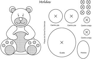 osos en goma eva jyc