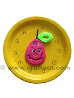 pear-clay-craft-paperplate